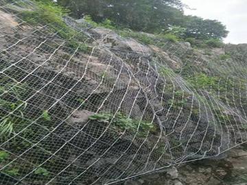 菱形钢丝绳网